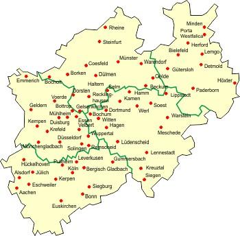 Karte Niederrhein.Karte Niederrhein Nrw Hanzeontwerpfabriek